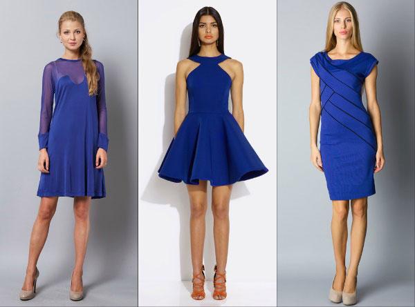 Образ на Новый 2016 год: королевский синий - короткие платья