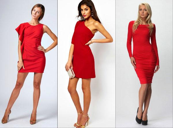 Образ на Новый 2016 год: роковой красный - короткие платья