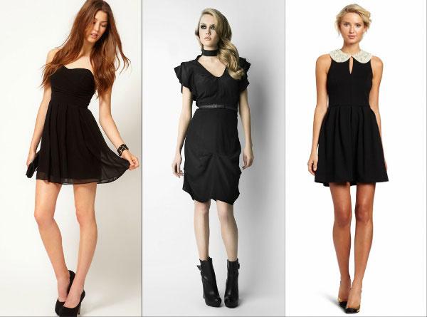 Образ на Новый 2016 год: классика черного - короткие платья