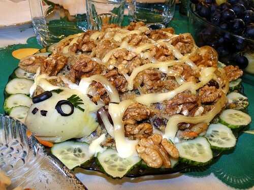 Ещё один необыкновенно вкусный салат на новый год 2013 – «Черепаха».