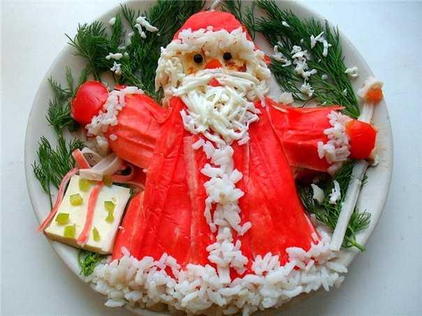 Салат Дед мороз : Новогодний рецепт с фото