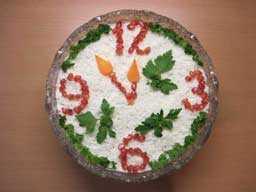 Итак, рецепт салата  На Новый год 2013 «Новогодние часы»